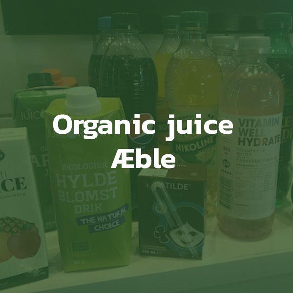 Organic juice med æble