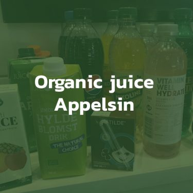 Organic juice med appelsin