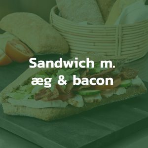 Sandwich med æg og bacon