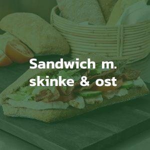 Sandwich med skinke og ost