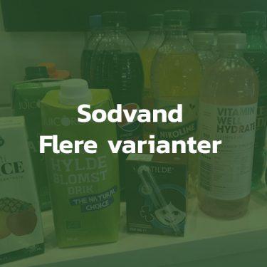 Sodavand flere varianter
