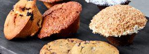 Udvalg af muffins