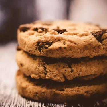 3 amerikanske cookies stablet