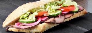 Sandwich med roastbeef