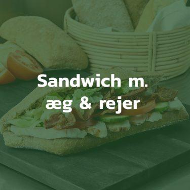 Sandwich med æg og rejer