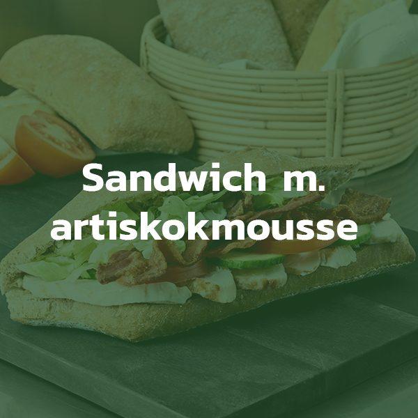Sandwich med artiskokmousse