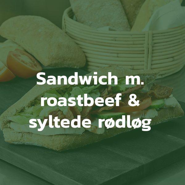 Sandwich med roastbeef og rødløg
